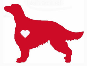 Heart Irish Setter Dog Decal