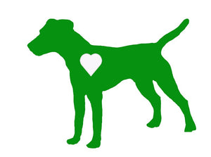 Heart Jack Russell Terrier Dog Decal