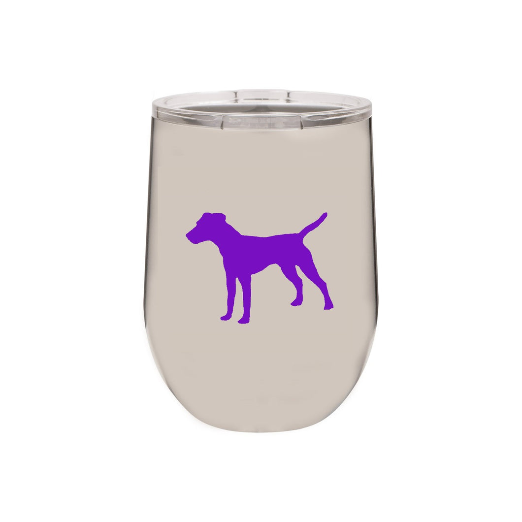Jack Russell 12 oz Vacuum Insulated Stemless Wine Glass