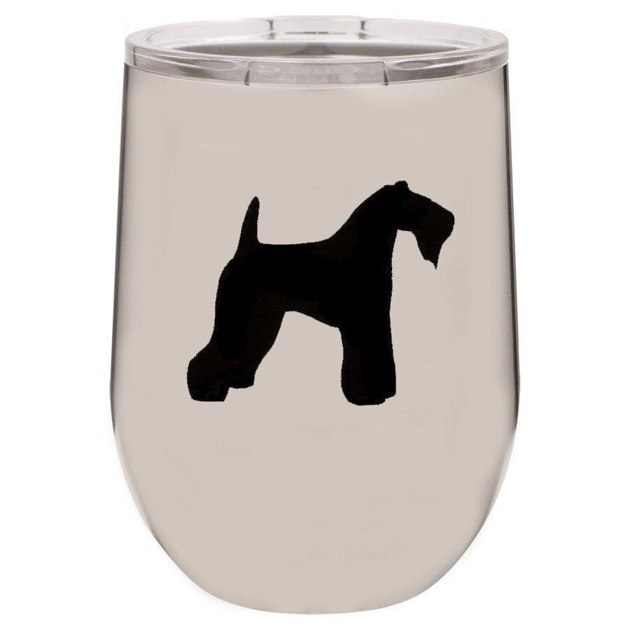 Kerry Blue Terrier 12 oz Vacuum Insulated Stemless Wine Glass
