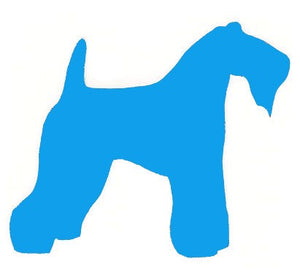 Kerry Blue Terrier Dog Decal