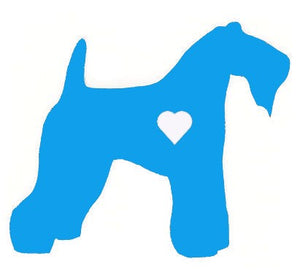 Heart Kerry Blue Terrier Dog Decal