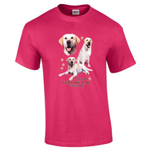 "Load image into Gallery viewer, ""Just A Dog""  Breed T Shirt Yellow Lab"