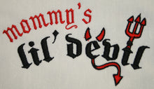 Load image into Gallery viewer, Halloween Embroidered Dog T-Shirt Mommy's Lil Devil