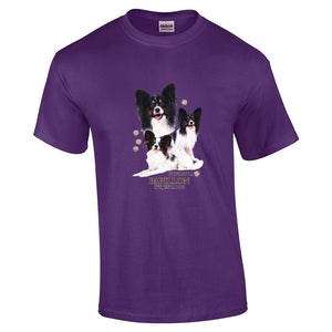 """Just A Dog""  Breed T Shirt Papillon"