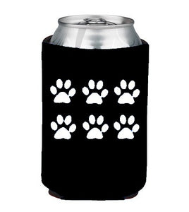 Paws Koozie Beer or Beverage Holder