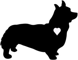 Heart Pembroke Welsh Corgi Dog Decal