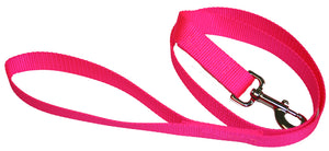 Webbing Dog Leash Hot Pink