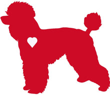 Load image into Gallery viewer, Heart Poodle Dog Decal