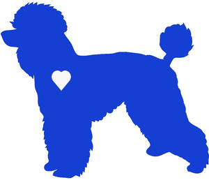 Heart Poodle Dog Decal