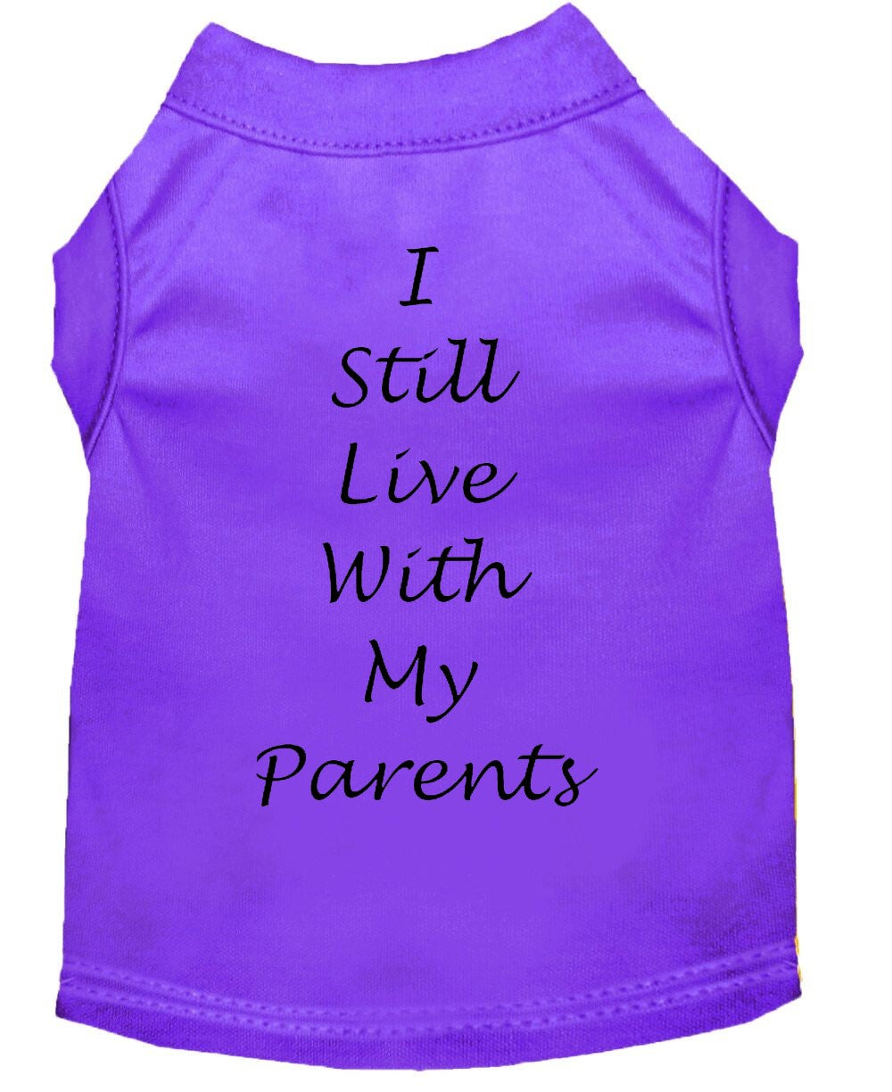 Dog Shirt Purple   I Still Live With My Parents