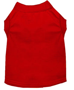 Plain Dog Shirt Red