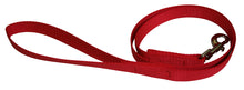Load image into Gallery viewer, Webbing Dog Leash Red