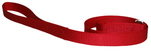 Webbing Dog Leash Red