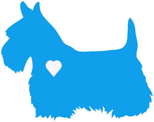 Heart Scottish Terrier Dog Decal