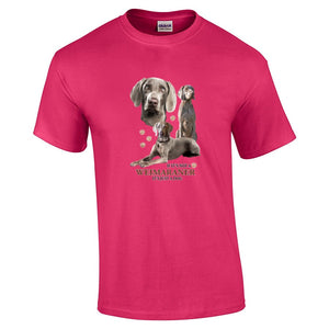"""Just A Dog""  Breed T Shirt Weimaraner"