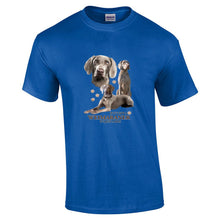 "Load image into Gallery viewer, ""Just A Dog""  Breed T Shirt Weimaraner"