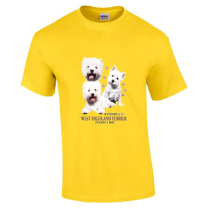 """Just A Dog""  Breed T Shirt West Highland Terrier"