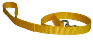 Webbing Dog Leash Yellow