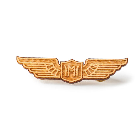 Wooden Pilot Wings (Yellow Wood)