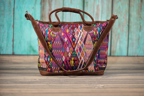 Huipil Overnighter Tote Bag Cross Body Purse Diaper Bag Stella