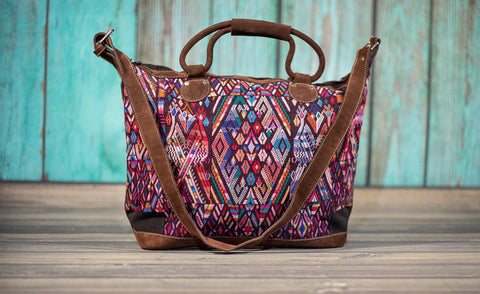 Huipil Overnighter Tote Bag Cross Body Purse Diaper Bag Sara