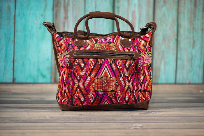 Huipil Overnighter Tote Bag Cross Body Purse Diaper Bag Shashana