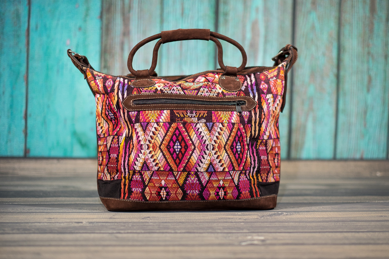 Huipil Overnighter Tote Bag Cross Body Purse Diaper Bag XOXO