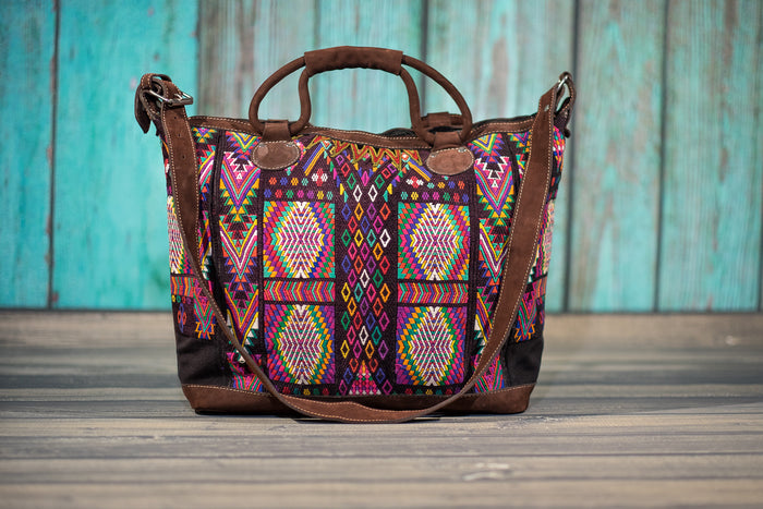 Huipil Overnighter Tote Bag Cross Body Purse Diaper Bag Zoe