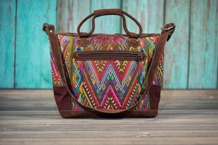 Huipil Overnighter Tote Bag Cross Body Purse Diaper Bag Gwen