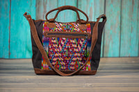 Huipil Overnighter Tote Bag Cross Body Purse Diaper Bag Voodoo