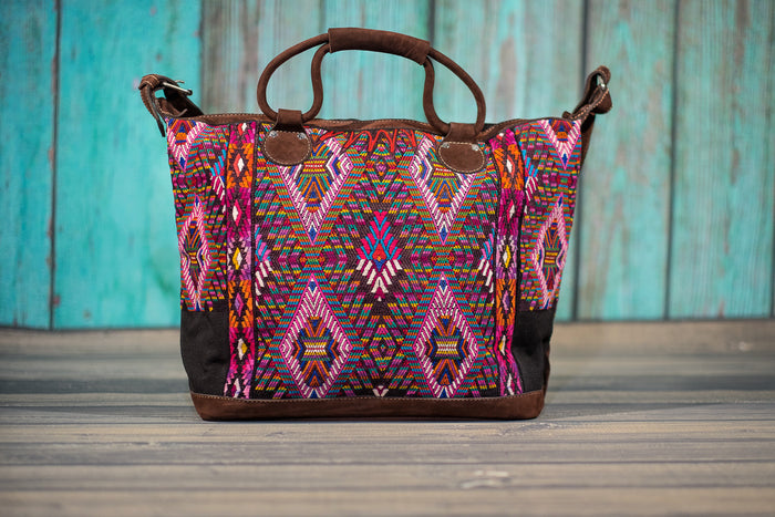 Huipil Overnighter Tote Bag Cross Body Purse Diaper Bag Petra