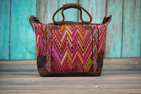 Huipil Overnighter Tote Bag Cross Body Purse Diaper Bag Sunset