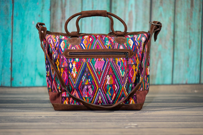 Overnighter Tote Bag Cross Body Purse Diaper Bag Carnivale