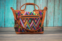 Overnighter Tote Bag Cross Body Purse Diaper Bag Rainbow