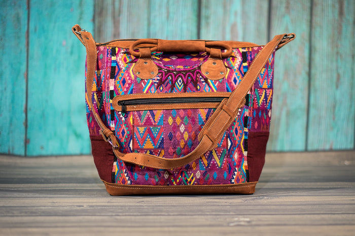 Overnighter Tote Bag Cross Body Purse Diaper Bag Mosaic