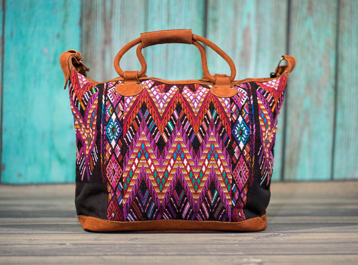 Overnighter Tote Bag Cross Body Purse Diaper Bag Mayan Mello