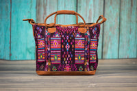 Huipil Overnighter Tote Bag Cross Body Purse Diaper Bag Totem