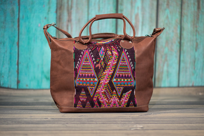 Overnighter Tote Bag Cross Body Purse Diaper Bag Chocolatte