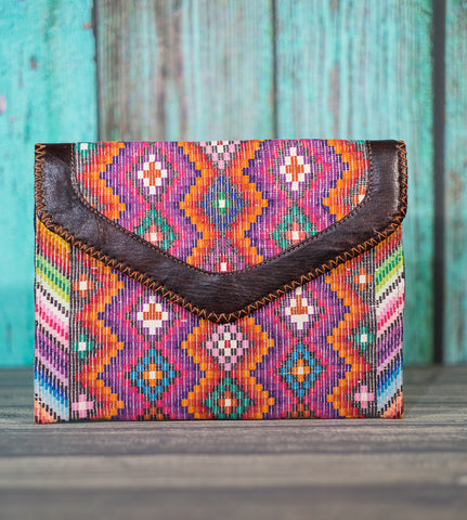 Huipil Dita IPad Clutch Purse Surf Side
