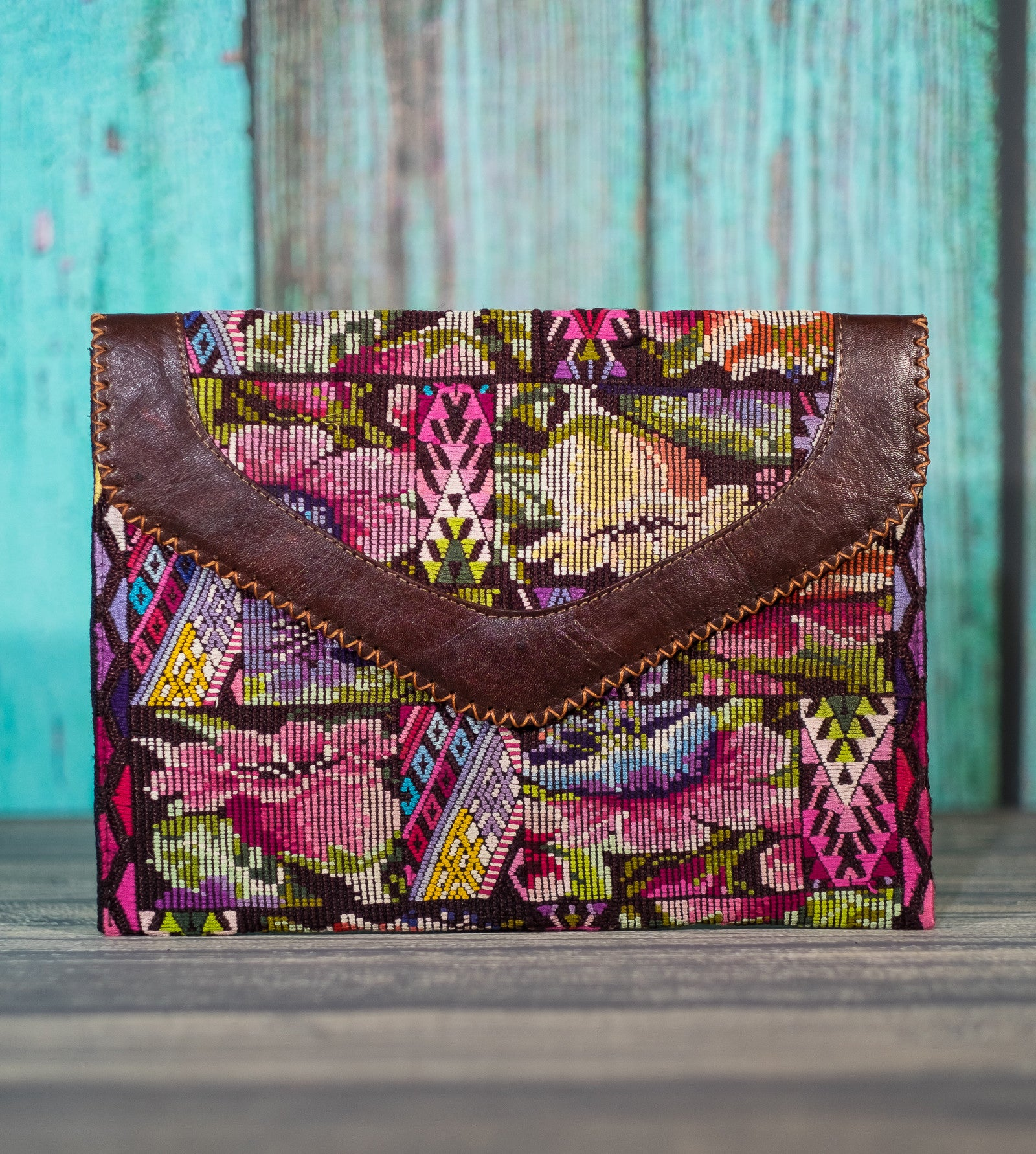 Huipil Dita IPad Clutch Purse Violet Garden