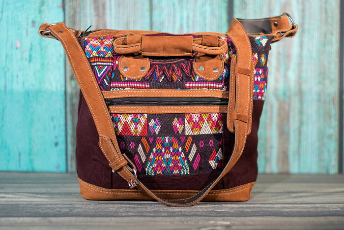 Huipil Day Bag Purse Diaper Bag (medium) Mayan Temple
