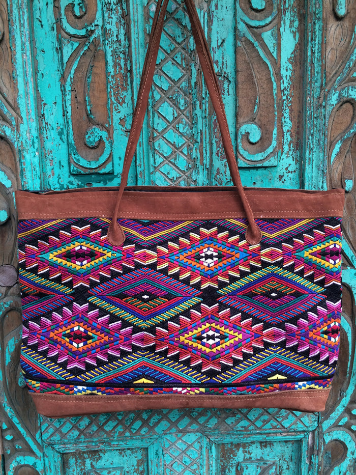 Geometriko Huipil Tote Bag ChiChi. SOLD