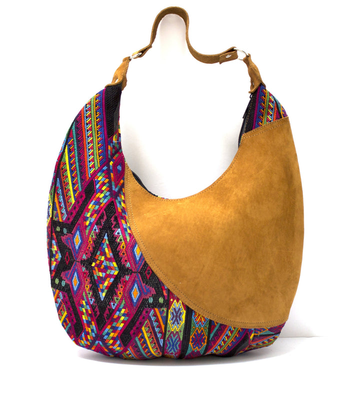 Curved Huipil Hobo Bag Night Festival