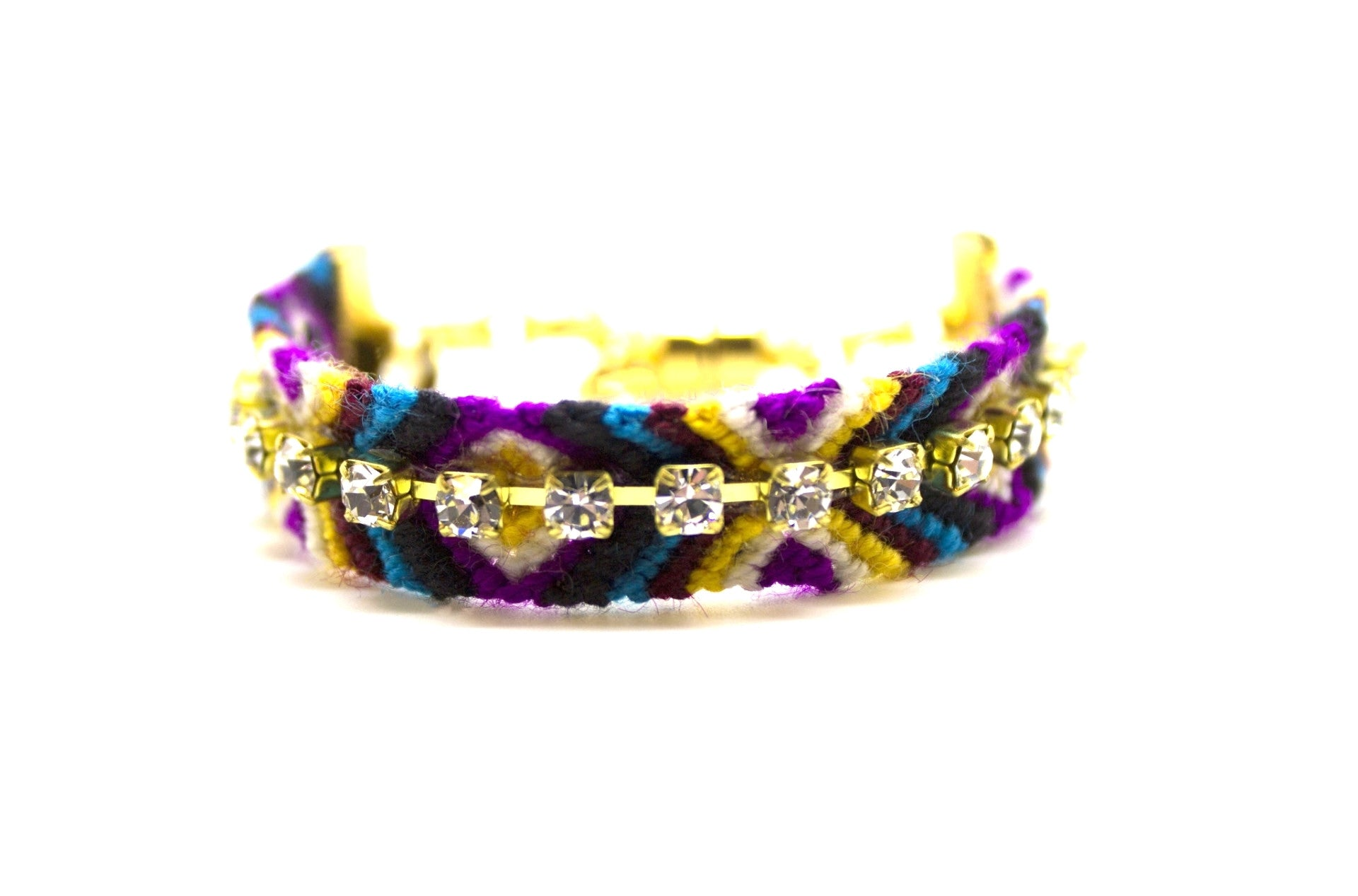 Black Violets Friendship Bracelet