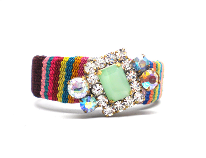 "Inca Bohemia cuff ""Mint chocolate"""