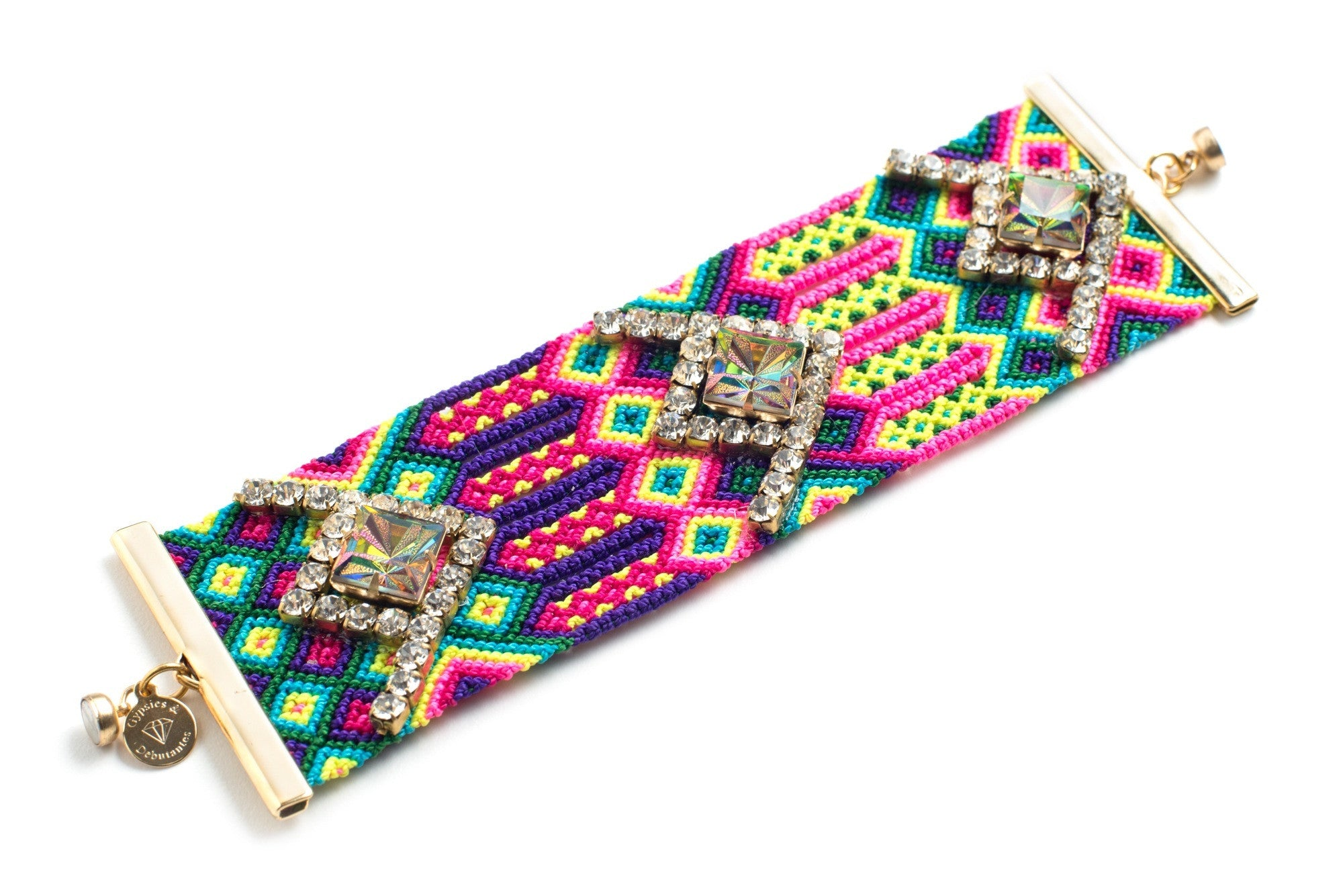 Wide Friendship Bracelet Cuff (Mambo)