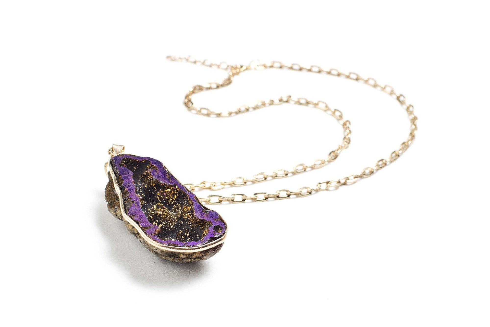 Purple Geode Necklace