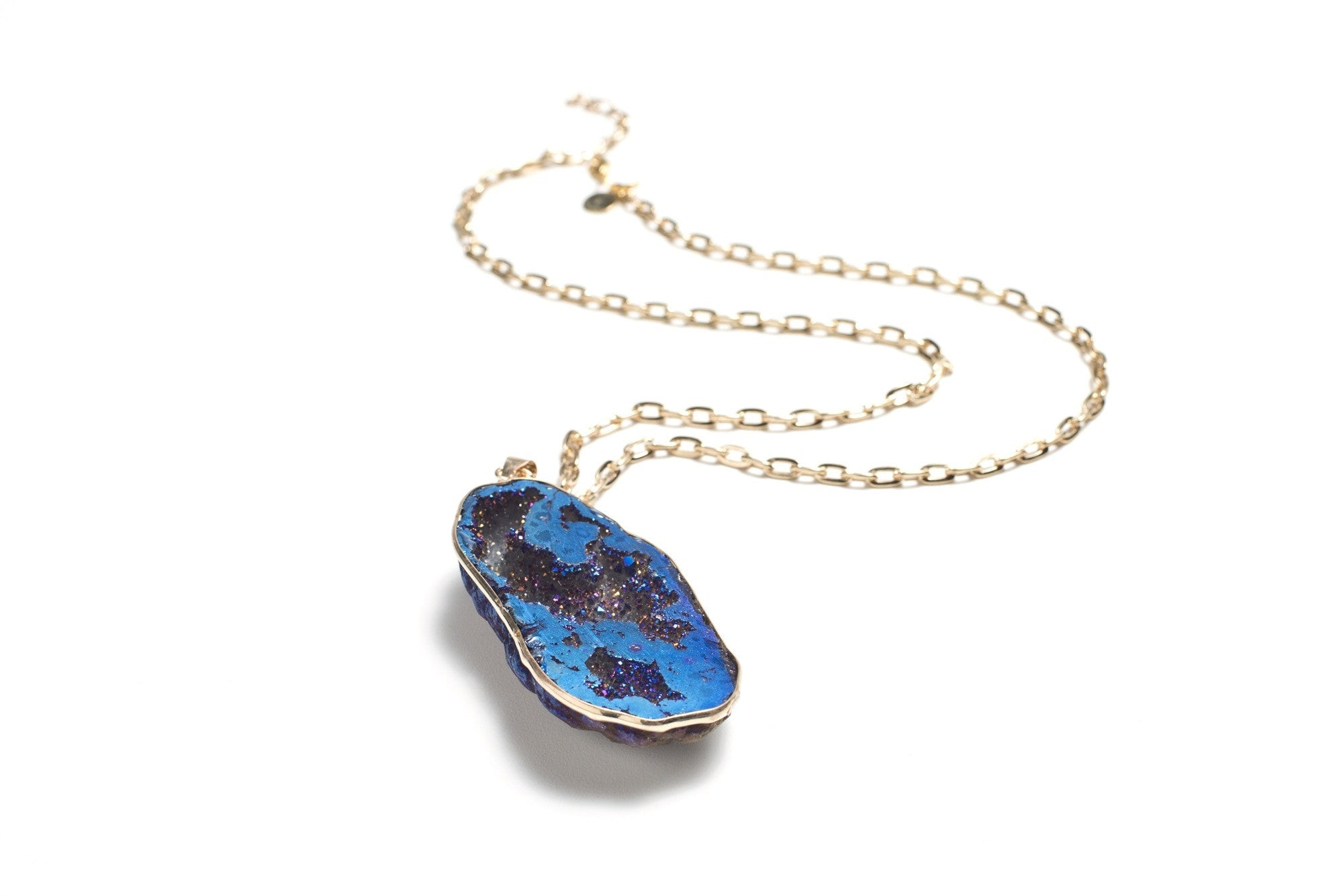 Blue Geode Necklace