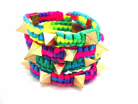 Neon Spike Friendship Bracelet